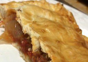 empanada de pisto casera, verduras al horno, receta casera, sana y fácil