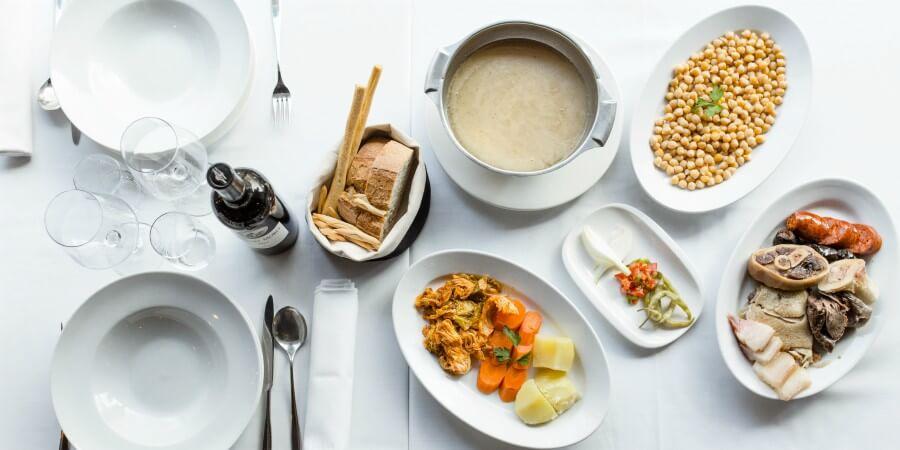 Taberna de Castellana. Cocina Tradicional Española de Mercado. Anchoas, Ensaladilla Rusa, Pulpo a la Gallega, Alcachofas, Cocido Madrileño, Filloas.