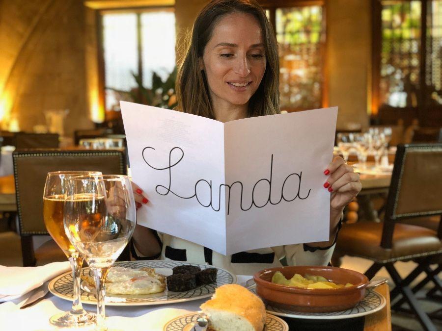 Carta del restaurante Landa en Burgos