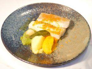 Restaurante-Fortuny-Madrid-Bacalao-Portugués-con-Menestra-de-verduras