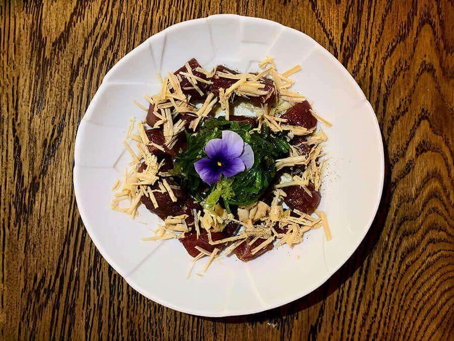 Restaurante-Nimú-Barquillo-Madrid-Atún-con-lascas-de-foie