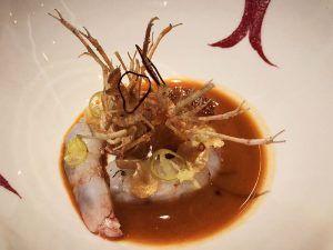 Restaurante-Coque-Madrid-Gamba-Blanca-cin-Fritura-de-su-Cabeza-y-Perlas-de-Palo-Cortado