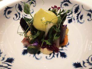 Restaurante-Coque-Madrid-Gastrogenómica-de-Semillas-Picantes-con-Kimchi-de-Verduras-y-Brotes-Orgánicos