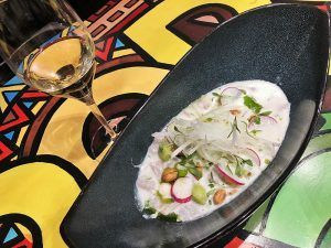 Valencia-Gastronomía-Mercat-Bar-Quique-Dacosta-Carta-Ceviche-Corvina-Thai