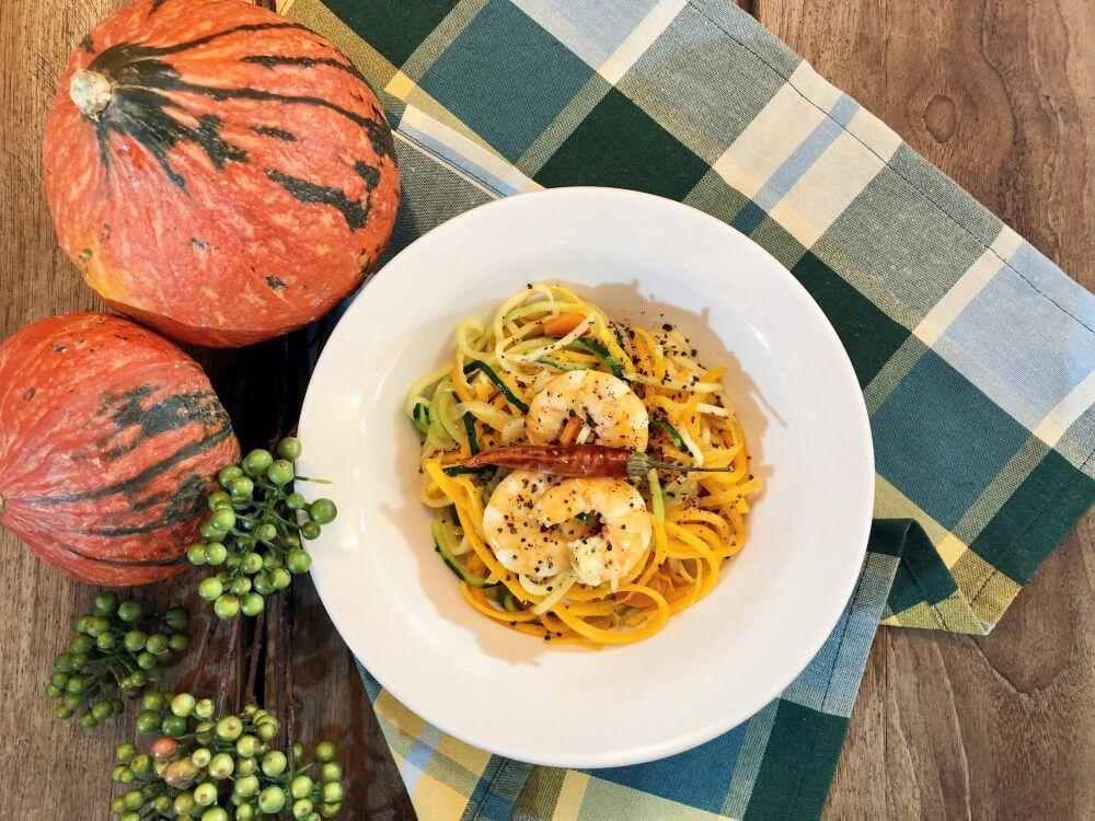 Espaguetis-de-Calabacín-y-Calabaza-con-Langostinos-Final