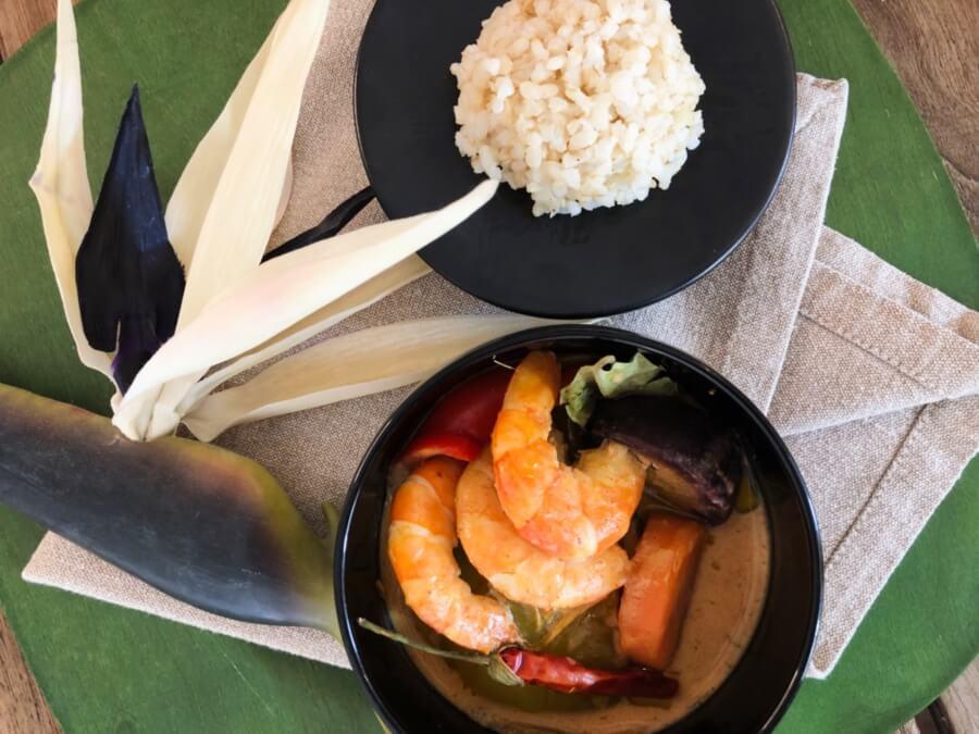 Receta de curry rojo de langostinos