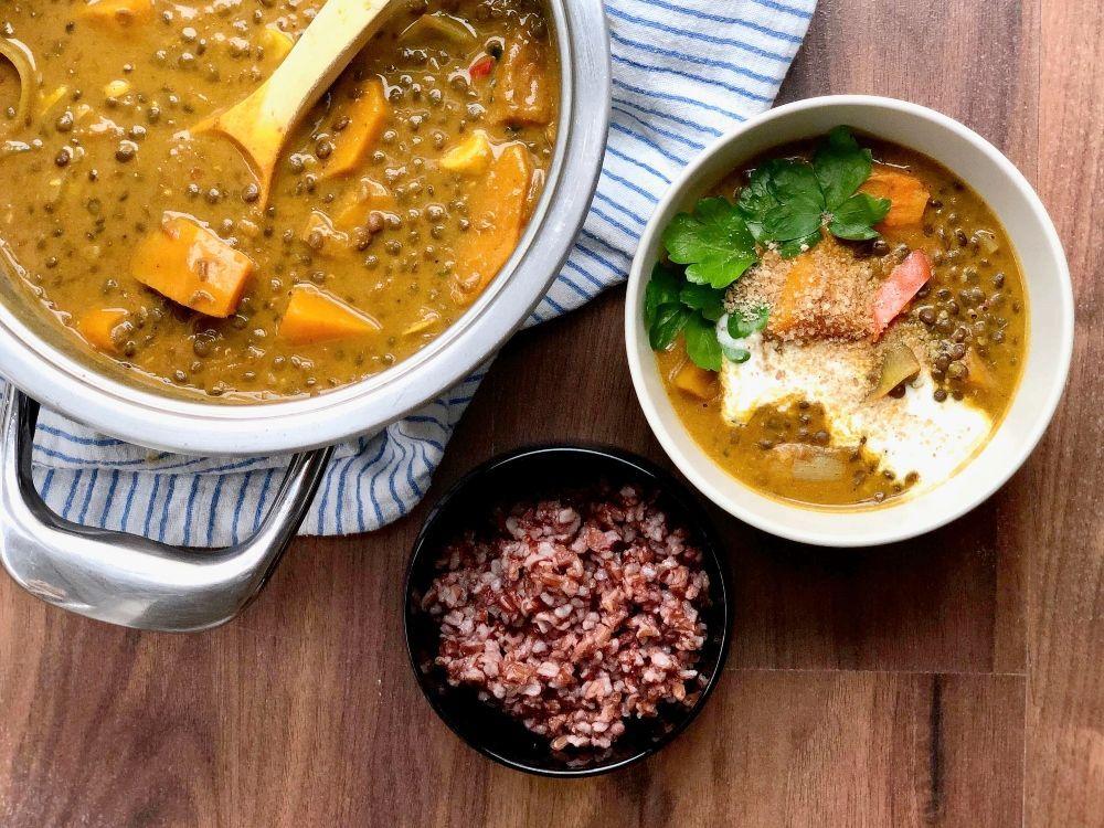 curry de lentejas receta