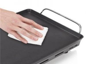 limpiar plancha de cocina table chef