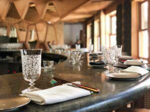 La barra del restaurante A Barra en Madrid