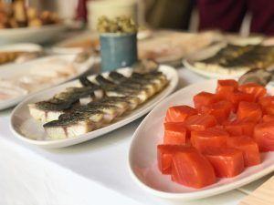 El catering del evento de Belondrade y Lurton