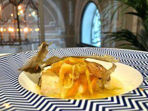 Esturión del menú healthy del hotel Heritage