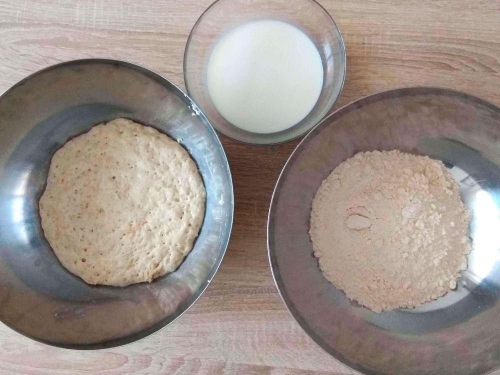 Ingredientes para preparar la masa de pan de molde casero