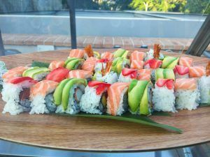 Sushi de La Terraza Florida Retiro en Madrid