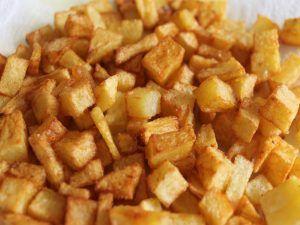 Receta de trigueros con patatas fritas