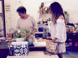 Comprar artesanía en Santorini