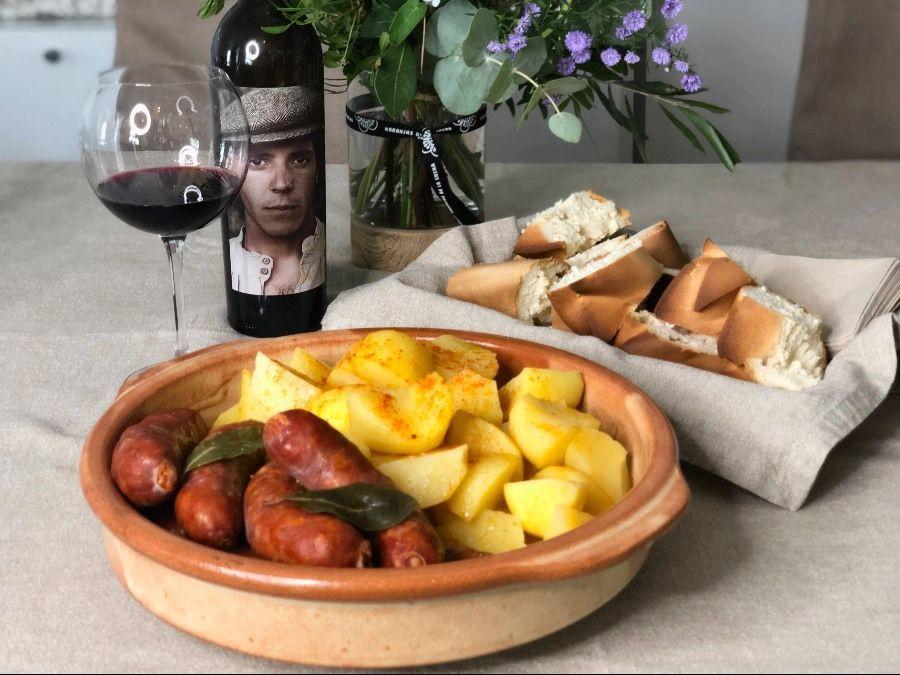 Receta de Chorizo con Cachelos