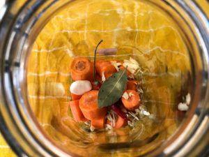 picante verduras fermentadas