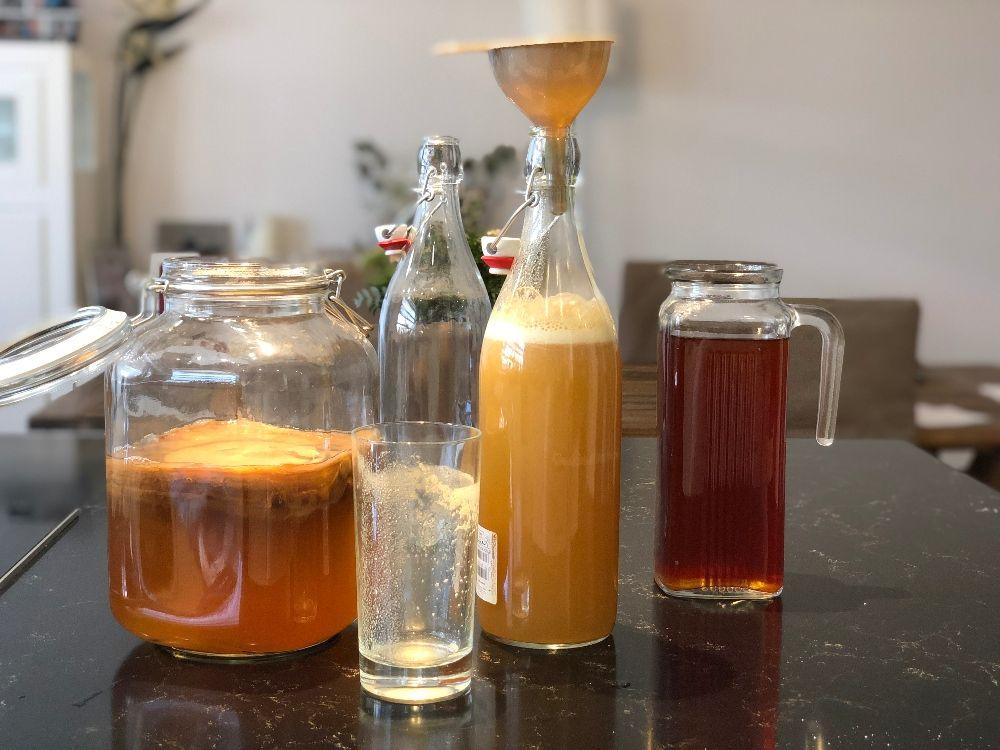 kombucha receta casera segunda fermentación