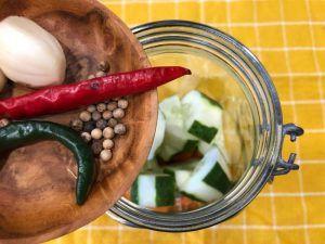 especias verduras fermentadas