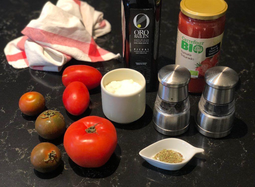 salsa de tomate ingredientes