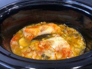 bacalao crock pot verduras
