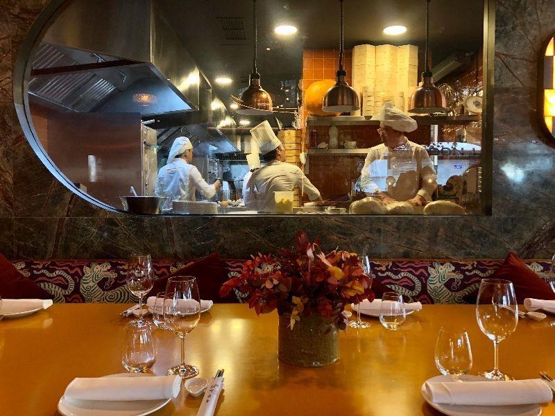 cocina vista restaurante don lay madrid