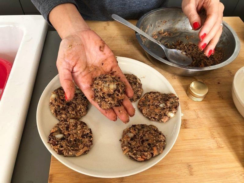 elaboración hamburguesas vegetales