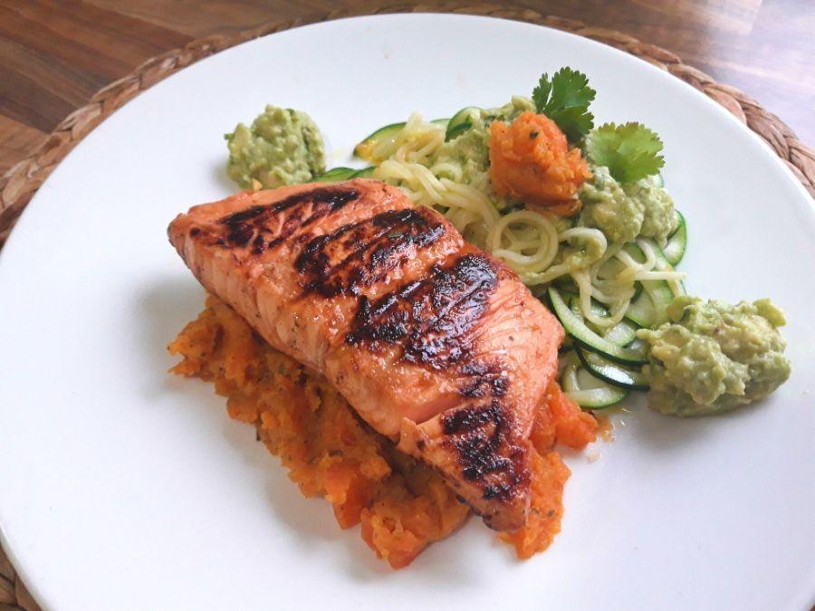 calabacettis con salmón principal