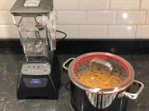 utensilios de cocina crema de calabaza
