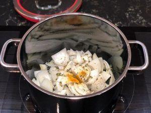 ingredientes para crema de calabaza
