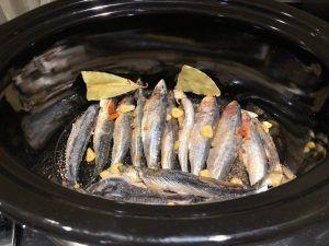 sardinas en crock pot