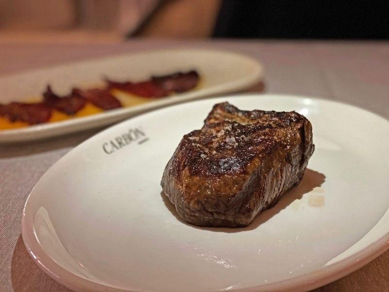 carne carbón negro en Madrid
