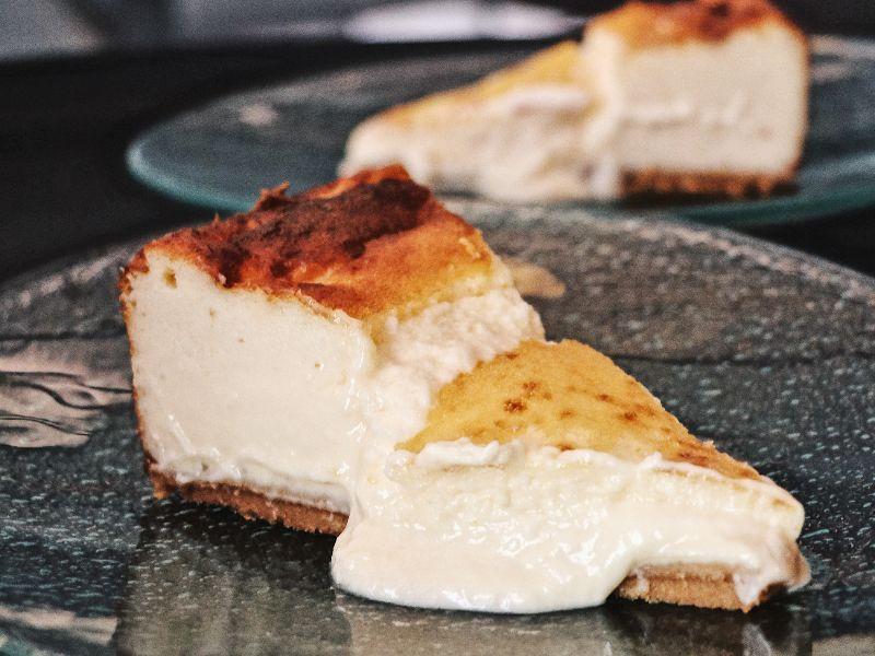 Tarta de queso carbon negro