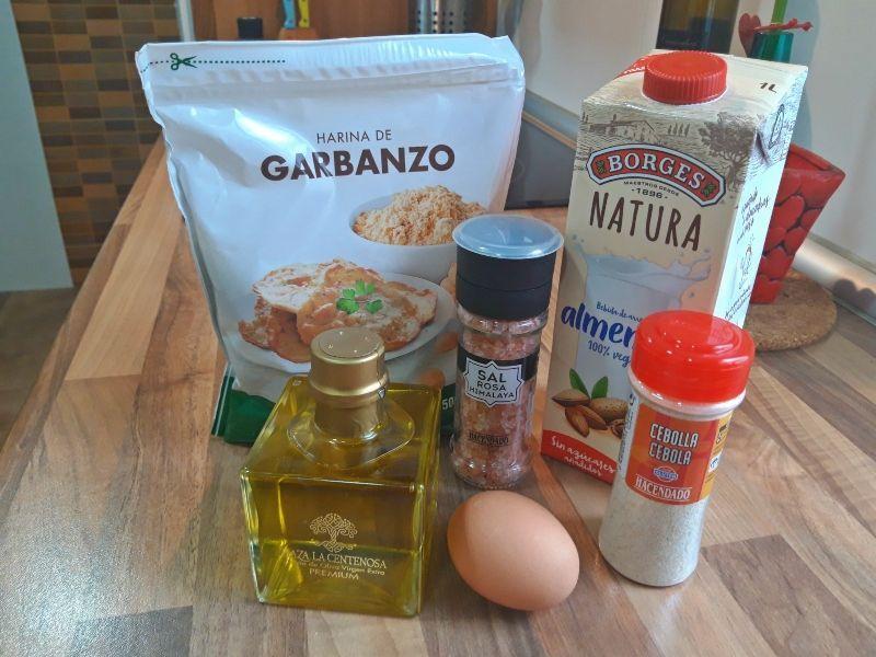 gofres caseros salados ingredientes