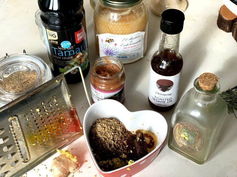Ingredientes para salsa de berenjenas al horno