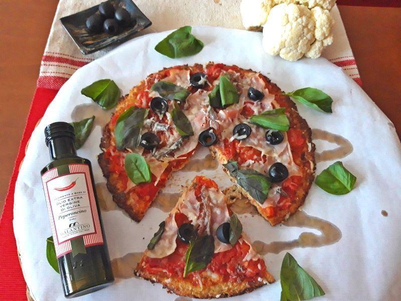 pizza coliflor resultado