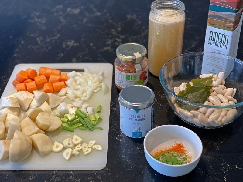 receta judías blancas ingredientes