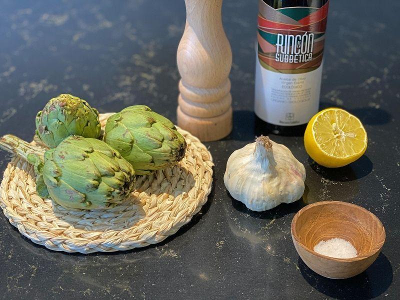 alcachofas al horno ingredientes