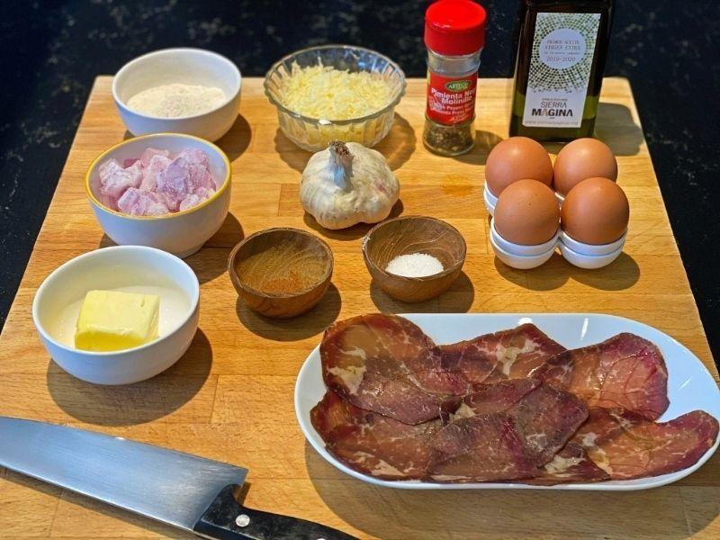 ingredientes huevos rellenos con bechamel