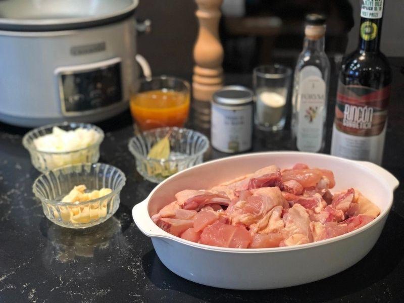 pollo al ajillo ingredientes