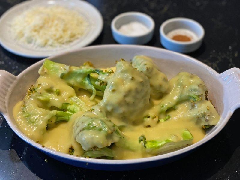 coliflor y brócoli con bechamel