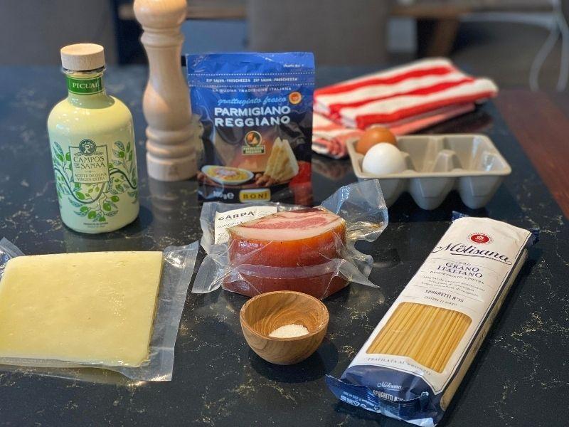 espaguetis carbonara ingredientes
