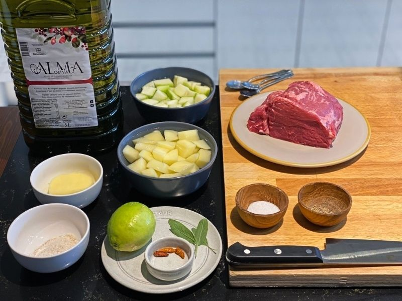ingredientes solomillo al horno