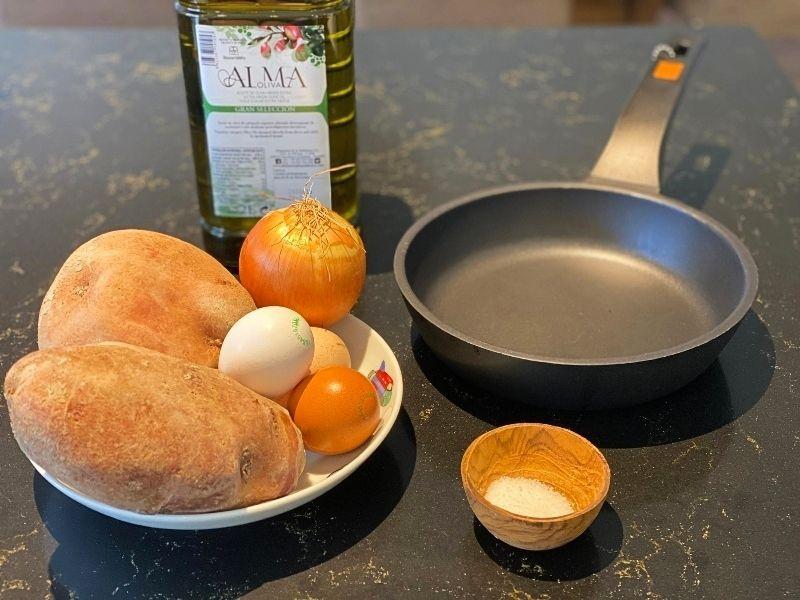 ingredientes receta tortilla de patatas