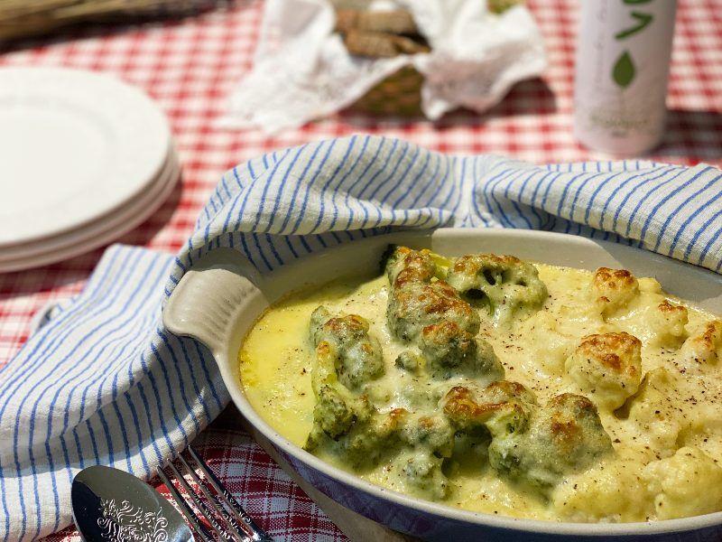 coliflor y brocoli con bechamel