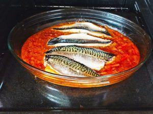 elaboración 2 caballa horno