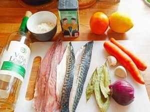 ingredientes caballa al horno