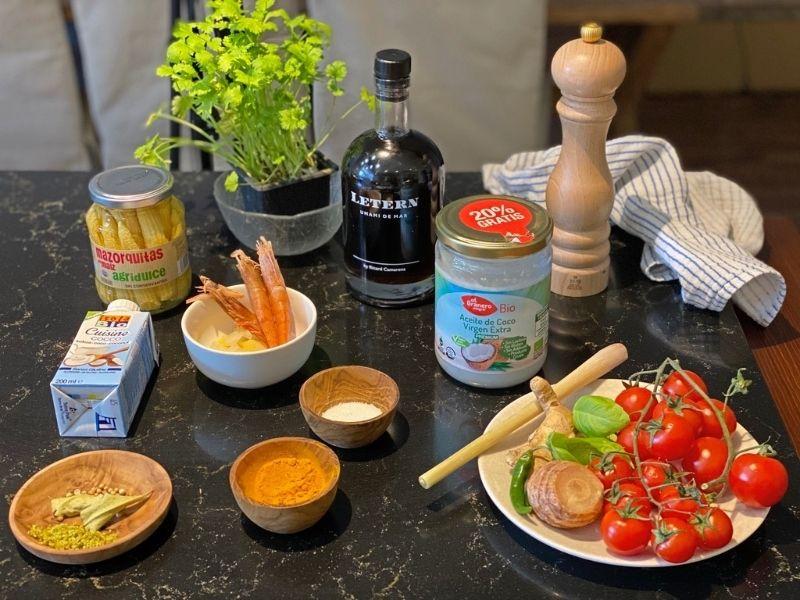 curry verde de lubina ingredientes