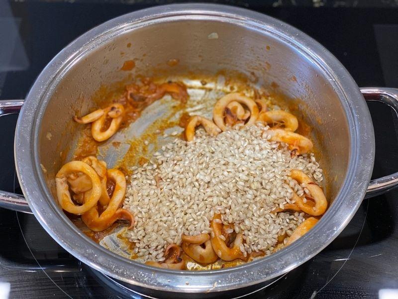 arroz caldoso con pescado y marisco ingredientes sofrito