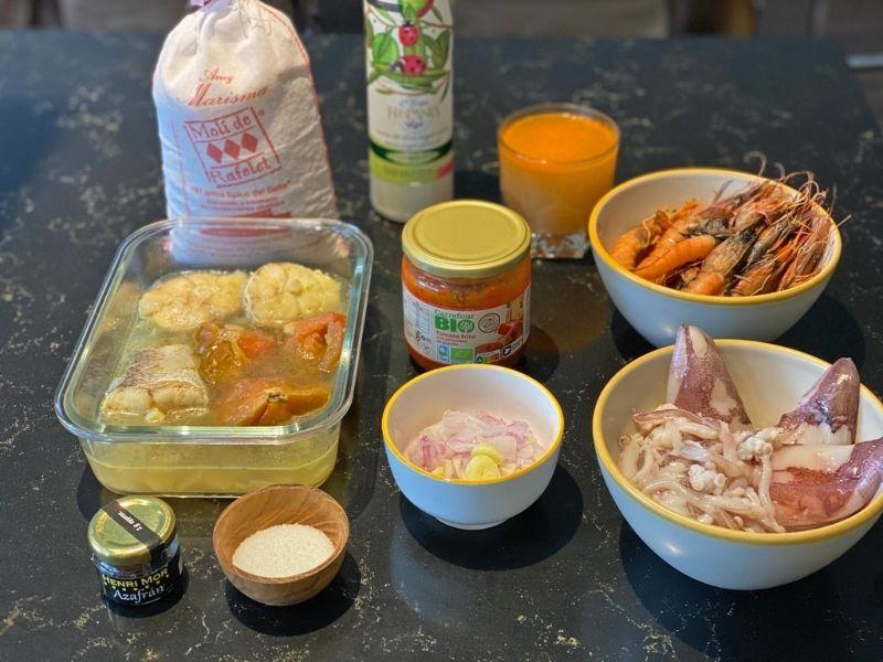 arroz caldoso con pescado y marisco ingredientes
